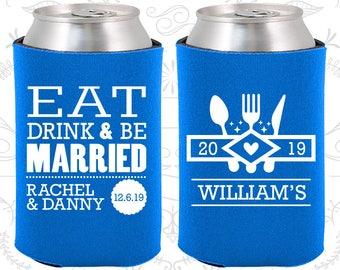 Cerulean Blue Wedding, Cerulean Blue Can Coolers, Cerulean Blue Wedding Favor, Cerulean Blue Wedding Gift, Cerulean Blue Wedding Decor (424)