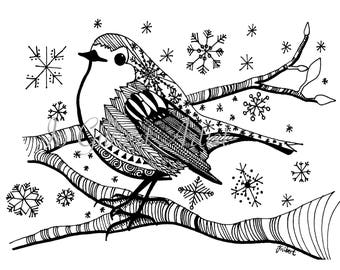 coloring pages robin tree - photo#42