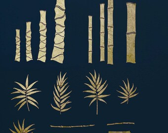 Bamboo Stencil Kit #1 for Art,  ST40
