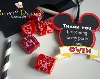 Mickey Mouse favor tags / mickey Mouse thank you / thank you tags Mickey Mouse