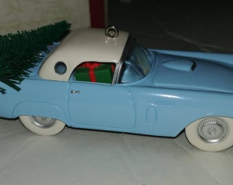 Hallmark Ornament 1956 Ford Thunderbird Light Blue 3rd in Classic American Cars Series Vintage dated 1993
