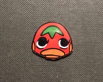 Ketchup Animal Crossing Pocket Camp inspired pin
