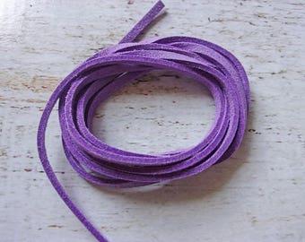 1 meter nine 3 mm purple flat suede cord