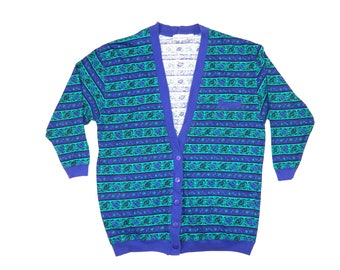 Vintage Abstract Cardigan
