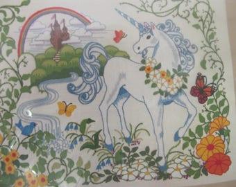 Unicorn's Kingdom Sunset Stitchery Crewel Embroidery Kit Eileen Violet