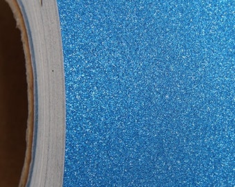 """Glitter Blue Self Adhesive Sign Vinyl Film 12"""" wide - By The Yard"""