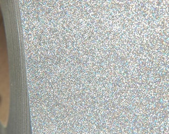 "Glitter Holo Silver 20"" Heat Transfer Vinyl Film By The Yard"