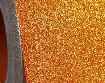 "Glitter Yellow Gold 20"" Heat Transfer Vinyl Film By The Yard"