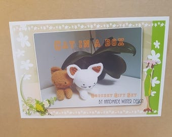 Crochet Kitty Cat Kit, Crochet Amigurumi Complete set