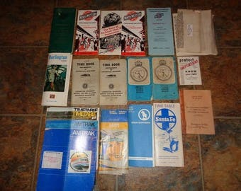1960s-and newer,Railroad Timetables,rule books,passenger train schedules for any Lionel train fan