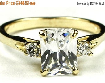 On Sale, 30% Off, Cubic Zirconia (CZ), 14KY Gold Ring, R171
