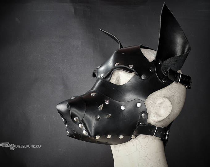 Leather Dog Mask - Fetish Mask - Slave Mask - Sex Mask - BSDM Mask
