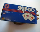 Skip-Bo card game, vintage Skip-Bo game 1989, vintage card game, UNO Skip-Bo game