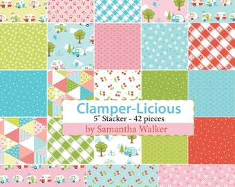 "Glamper-Licious 5"" Charm Pack by Samantha Walker for Riley Blake Designs"