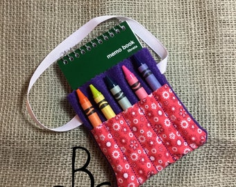 Flower Crayon and Notepad Holder