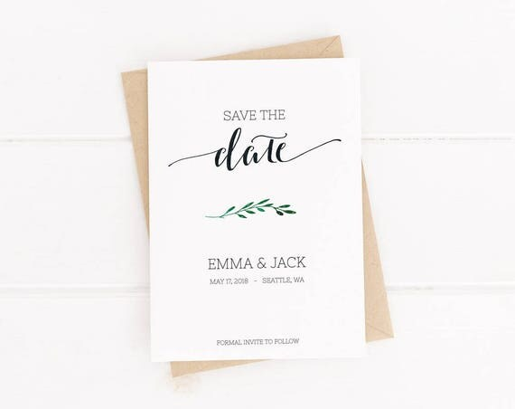 Printable Save the Date Template INSTANT DOWNLOAD