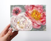 "Mini Floral Oil Painting Art 5x7"" on Canvas"