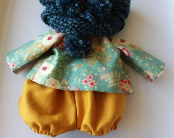 Set for Doll or rabbit in linen.