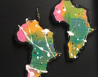 Colorful Africa Earrings (large)