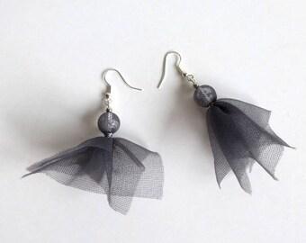 Earrings grey eco-designed VIENNA