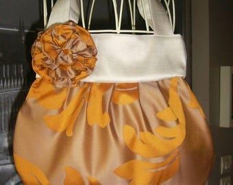 handbag handmade French ball caramel