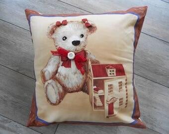 Cushion cover 'my little teddy bear' - custom order - home decor