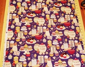 Christmas baking fabric