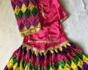 Multi color cute gharara for little girls 3-4 yrs old