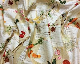 Cook Recipes 807 Makower UK Patchwork Quilting Dressmaking Fabric