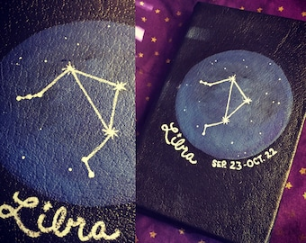"""Zodiac Constellation Book cover for Kindle Fire, iPad Mini or other 6""""-8"""" tablets"""