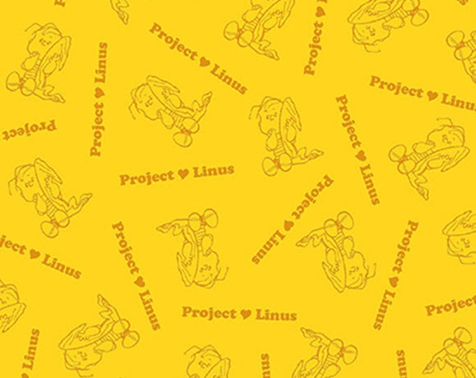 PROJECT LINUS - Blender in Yellow - Peanuts Charlie Brown Cotton Quilt Fabric - Quilting Treasures Fabrics - 22326-S (W4015)
