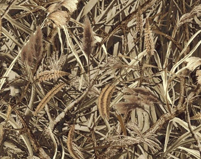 """21"""" REMNANT Camo - Marsh Grass - Cotton Quilt Fabric - by Whistler Studios for Windham Fabrics (W993)"""