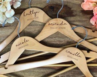 SALE Engraved Bridesmaid Hanger, Bride Hanger, Name Hanger, Wedding Hanger, Personalized Bridal hanger, Bridal Gift, name hanger, #900