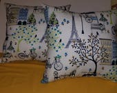 Custom Order. Paris pillow set 16 inch pillows