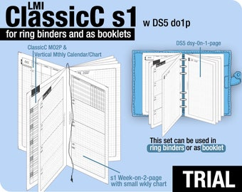 Trial [PERSONAL ClassicC S1 with DS5 do1p] November to December 2017 - Filofax Inserts Refills Printable Binder Planner Midori.