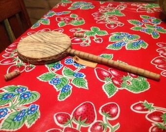 Vintage wooden ceremonial folk art spirit caller hand drum- Kenya, Africa