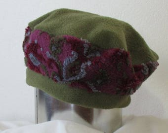 Fleece Beret Hat, a great Beret Hat, a really funky Womens Hat,could be worn like slouchy hats,a piece of adult cute headwear