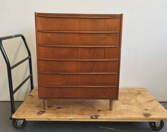 Vintage Danish Modern Teak Dresser / Chest - Free NYC Delivery!
