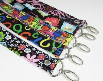 Keychain - Lanyards - Wristlet - Key Fob - Personalized Gift - Key Fob Wristlet - Teacher Gift - Lanyard for Badge Holder