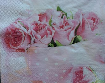 Decoupage Paper Napkins - set of 4 - Ephemera for Scrapbooking, Card making, Collage, Decoupage, Altered Art and Crafts