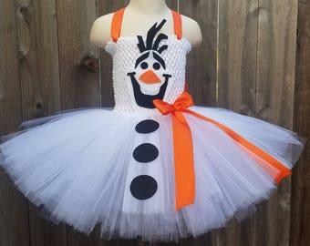 Olaf Inspired Tutu Dress, Snowman Tutu Dress, Snowman Dress, Olaf Dress, Snowman Tutu, Olaf Birthday, Olaf Party