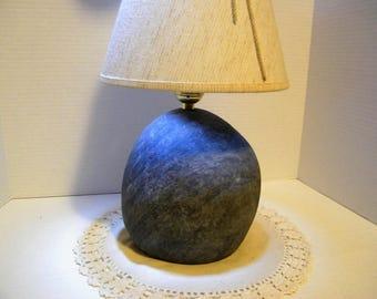 Lamp, Rock Lamp, Natural Round Rock Lamp, Stone Lamp, Natural Stone Lamp