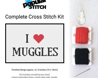 I Heart Muggles - Cross Stitch Kit - Harry Potter - Cross-Stitch Pattern Kit