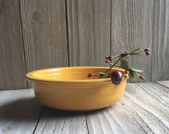"Vintage Fiesta - 5-1/2"" Fruit Bowl - Yellow"