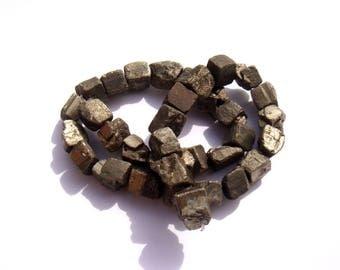 1 mini rough irregular Pyrite rock Matt 10 x 10/13 mm approx