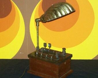 Steampunk School Science Lab Resistor Box Upcycled Table Lamp Vintage Scientific W & J George Ltd