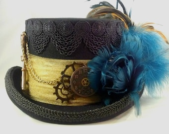 Steampunk Hat,Steampunk, Steampunk Top Hat,Steampunk Wedding, Victorian Riding Hat, Victorian Hat, Kentucky Derby Hat, Grey Ghost Toppers