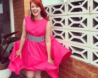Coming Soon - reversible 50s hot pink swing dress