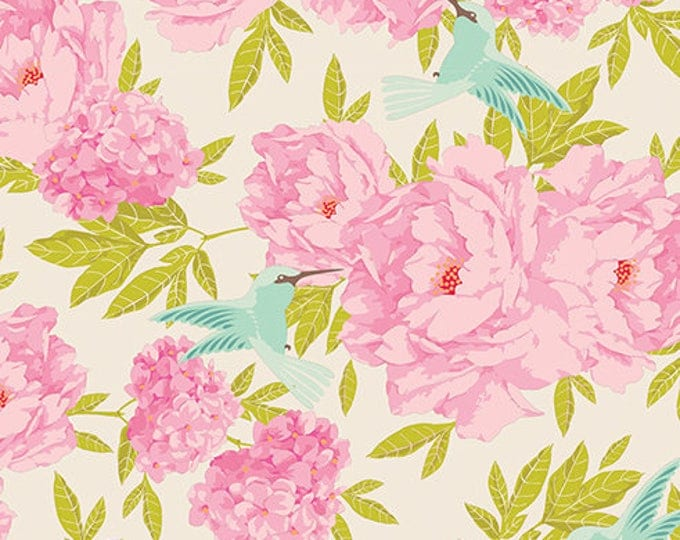 TILDA LEMONTREE - Hummingbird Dove White 100001 - 1/4 yard