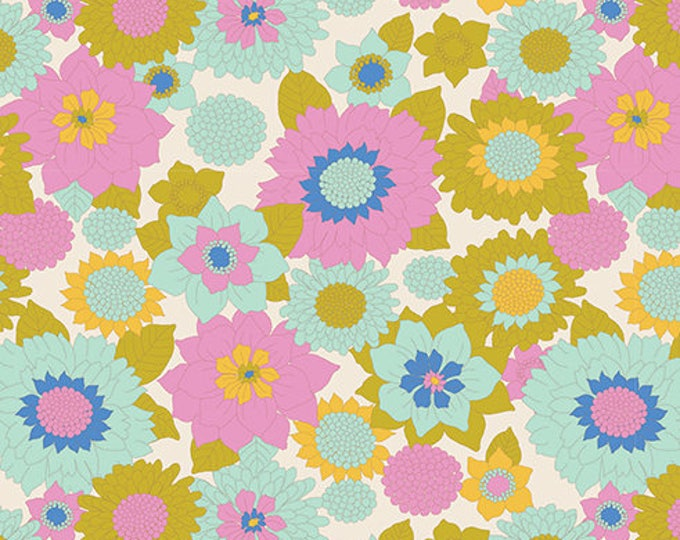 TILDA LEMONTREE - Boogie Flower Dove White 100009 - 1/4 yard